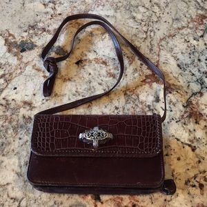 Brighton clutch with removable crossbody strap
